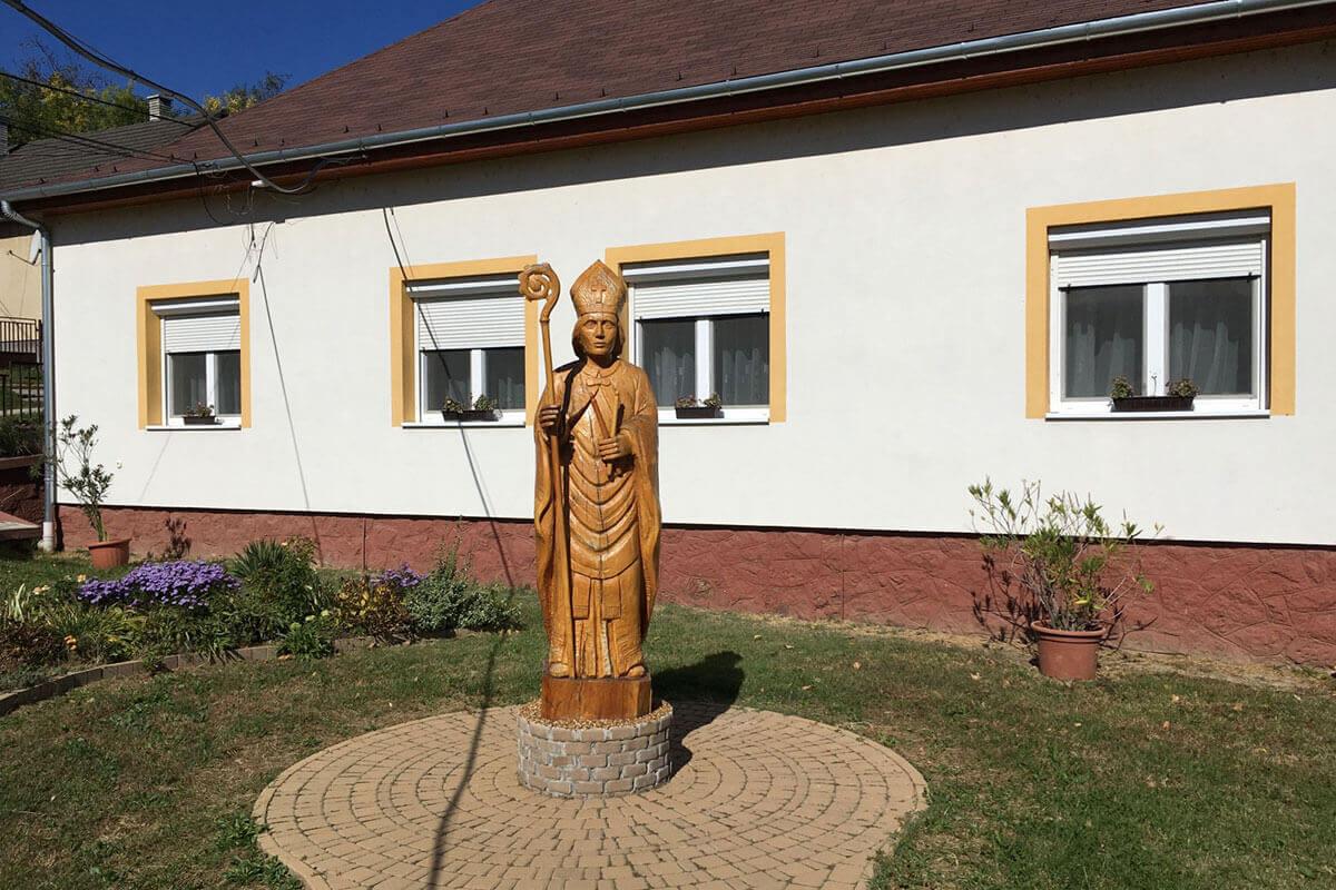 Szent Balázs faszobra - Zalaszentbalázs